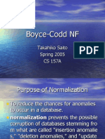 Database Management - Boyce-Codd Normalization