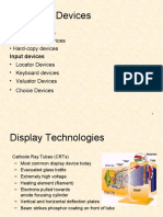 Computer Graphics - Hardware Devices
