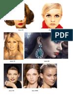 Exemplos de Maquiagem e Croquis