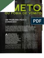 Especial Fobias e Medos - Emetofobia Ou Fobia de Vômito - Revista Psicologia, n. 019
