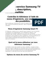 Menu de Service Samsung TV