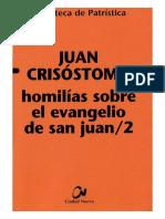 54. JUAN CRISOSTOMO - Homilias Sobre El Evangelio de San Juan 2
