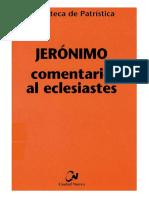 64. JERONIMO - Comentario Al Eclesiastes