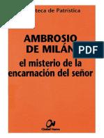 66. AMBROSIO de MILAN - El Misterio de La Encarnacion Del Senor
