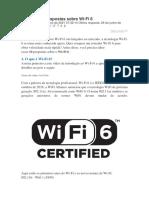 Perguntas e respostas sobre Wi