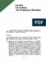 declaracion sobre raza y prejuicio racial unesco 1978