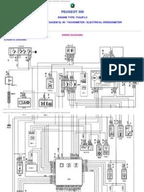 Peugeot 306 Wiring Diagrams | Wheeled Vehicles | Land VehiclesScribd