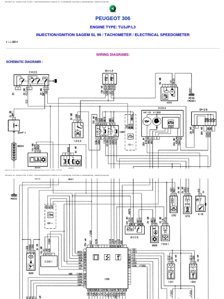peugeot 306 wiring diagrams rh scribd com peugeot 306 electrical wiring diagram peugeot 306 wiring diagram download