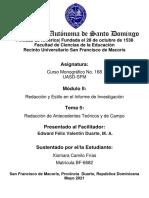 Tarea 5 UASD-SFM. Curso Monográfico No. 168 7  EFVD (1)