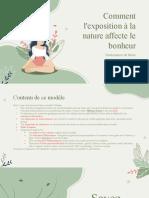 Comment l'Exposition à La Nature Affecte Le Bonheur - Soutenance de Thèse by Slidesgo