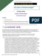 Más Allá de La Revolución Verde_ Un Papel Para La Biotecnología