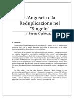 ANGOSCIA E REDUPLICAZIONE