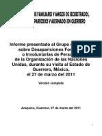 Informe del Comité de Familiares de Desaparecidos al Grupo de la Onu 2011 - version completa