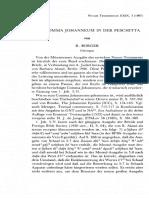 Das Comma Johanneum in der Peschitta