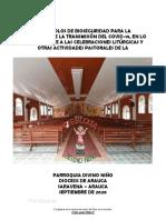 Protocolos de Bioseguridad COVID-19. Parroquia Divino Niño de Saravena 2020