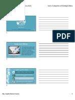 Presentación de Clase 1. Bases conceptuales de la evaluación clínica