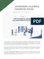 2 A Instrumentalidade na prática do Assistente Social