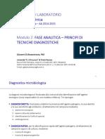 2 MED LAB - Fase Analitica - Principi Di Diagnostica Microbiologica