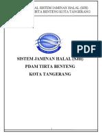 Manual Sistem Jaminan Halal PDAM Tirta Benteng Kota Tangerang