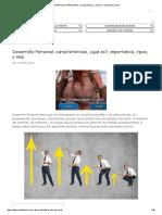 DESARROLLO PERSONAL_ caracteristicas, ¿qué es_, importancia, tipos