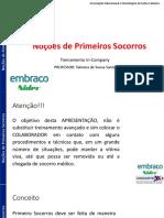 TREINAMENTO DE NOÇÕES DE PRIMEIROS SOCORROS