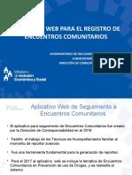 Presentación - Proceso - Encuentros Comunitarios