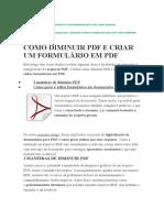 COMO DIMINUIR PDF E CRIAR UM FORMULÁRIO EM PDF