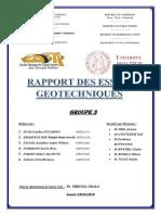 Rapport TP Géotech