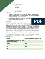 REPORTE. DEMANDA BIOQUIMICA DE OXIGENO.