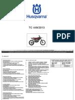 Catalogo Ricambi Husqvarna Tc 449 2013