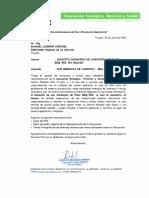 SOLICITUD DE DONACION DE CAMIONETA