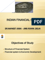 Indian Financial System an Overview by Dr Navneet Joshi From JIMS Rohini