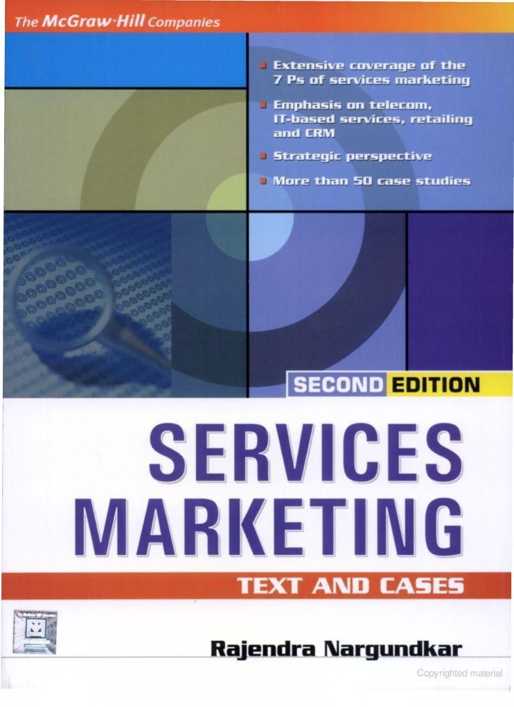 Services marketing text cases by rajendra nargundkar fandeluxe Gallery