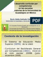 El desarrollo curricular por competencias.Rocío Andrade