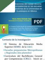 Implicaciones del trabajo docente por competencias en las escuelas preparatorias de la UdeG.