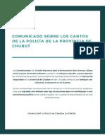 Repudio Policía Chubut