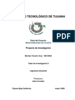 Redistribucion de Planta Proyecto de Investigacion