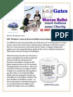 """Bill """"Window"""" Gates & Warren Buffet teach Indians some charity"""