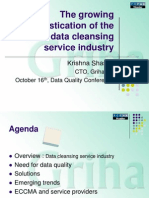 The growing sophistication of the master data cleansing service industry