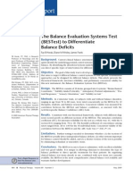 The Balance Evaluation Systems Test