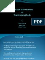 Effectiveness of Teaching Method in Top B School