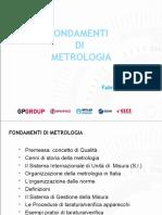Fondamenti di metrologia