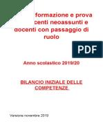 INDIRE Neoassunti Bilancio delle competenze 2019 2020