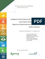 Catálogo de Fontes de Financiamento Projeto ODS - MMA PNUD
