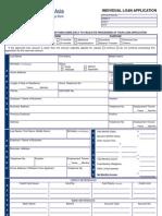 Individual Loan Application-SBA_2009
