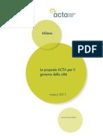La proposta ACTA per il Comune di Milano