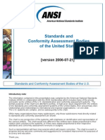 Standardization and Conformity Assessment Bodies - United States