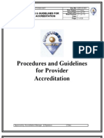 QPU-G 001 Services SETA Procedures and Guidelines for Provider Accreditation