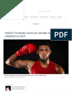 Hebert Conceição vence por decisão dos árbitros e se classifica no boxe - 29_07_2021 - UOL Olimpíadas