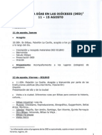 Programa Jornada Mundial de la Juventud - Diocesis de Bilbao - 2011